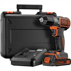 Black and Decker - 144v drill driver with Autosense and Autoselect technology Includes 1 battery 90 minute fast charger and kit box - ASD14K