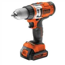 Black and Decker - 144V High Performance LiIon 2 Gear Drill - EGBHP146K