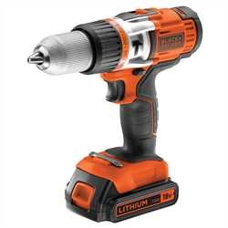 Black and Decker - 18V High Performance LiIon Hammer Drill - EGBHP188BK