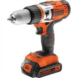 Black and Decker - 18V High Performance LiIon Hammer Drill - EGBHP188K