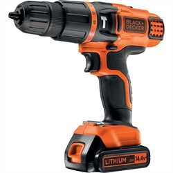 Black and Decker - 144V Lithium 2 Gear Hammer Drill - EGBL148KB