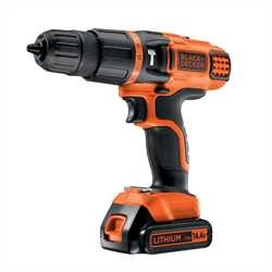 Black and Decker - 144V Lithium 2 Gear Hammer Drill - EGBL148K