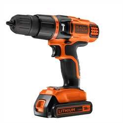 Black and Decker - 18V Lithium 2 Gear Hammer Drill - EGBL188K
