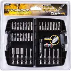 Black and Decker - Strong Box HI TECH Torsion Screwdriver Bits 33 Piece Set - X88000