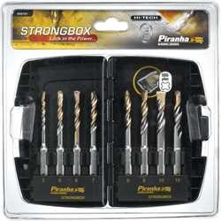 Black and Decker - Strong Box HI TECH Masonry SDS plus Drill Bits 8 Piece Set - X88101