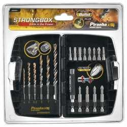Black and Decker - Strongbox HI TECH Mixed Masonry and Screwdriver Bits 19 Piece Set - X88201