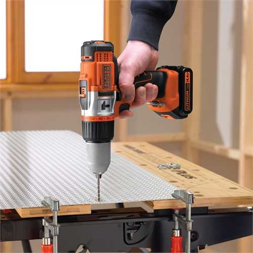 Black And Decker - 144V High Performance LiIon Hammer Drill - EGBHP148BK