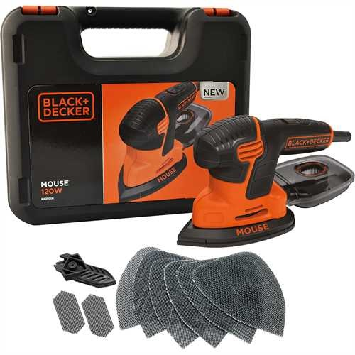 Black And Decker - Nov generace brusky Mouse 120 W s kufrem a 9 kusy psluenstv - KA2500K